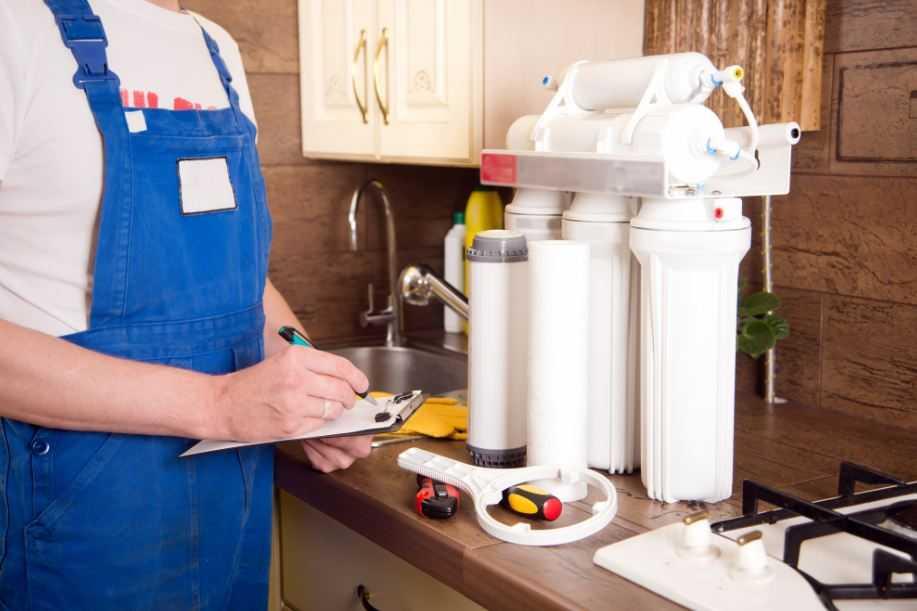 Installing Water Softeners.