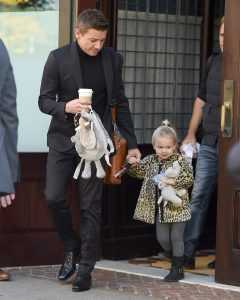 Jeremy Renner and Daughter Ava in Heber City