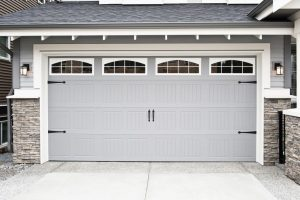 Beautiful white garage door