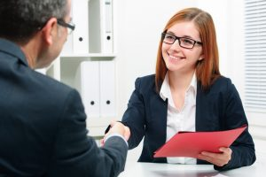 Recruiter and applicant during an interview