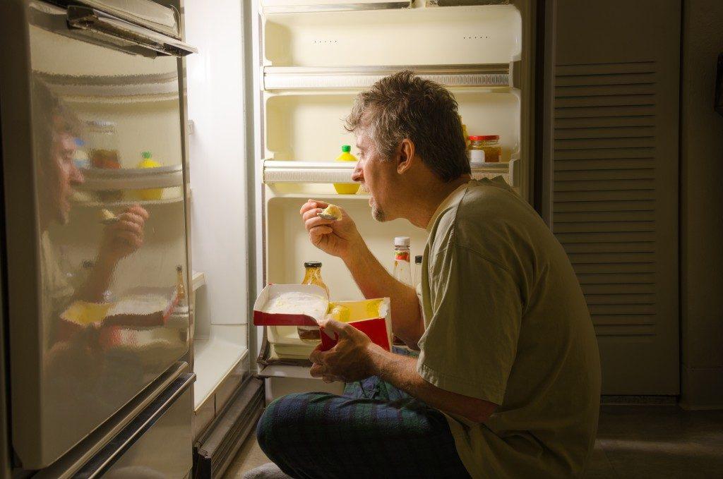 Man with binge eating disorder