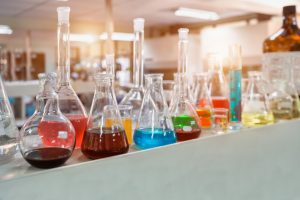 a chemical laboratory
