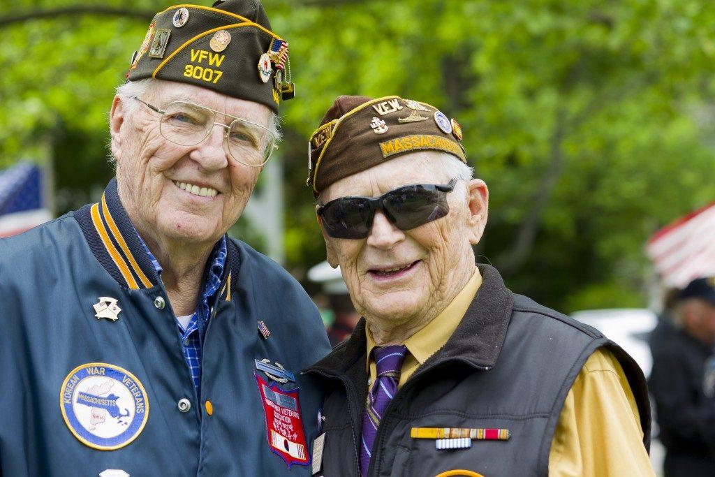 Military veterans smiling