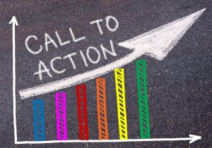Call to action written in chalk
