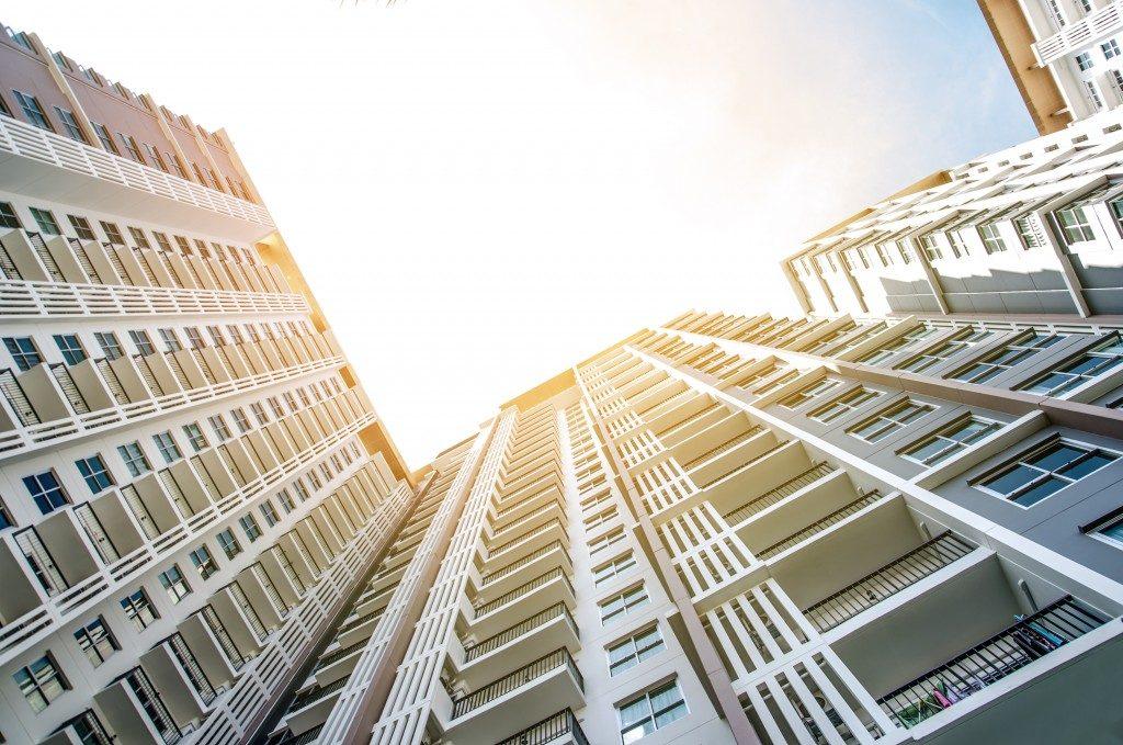 Condominium photo shot from the bottom