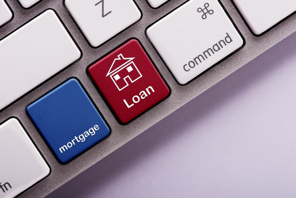 Loan and mortgage on the key