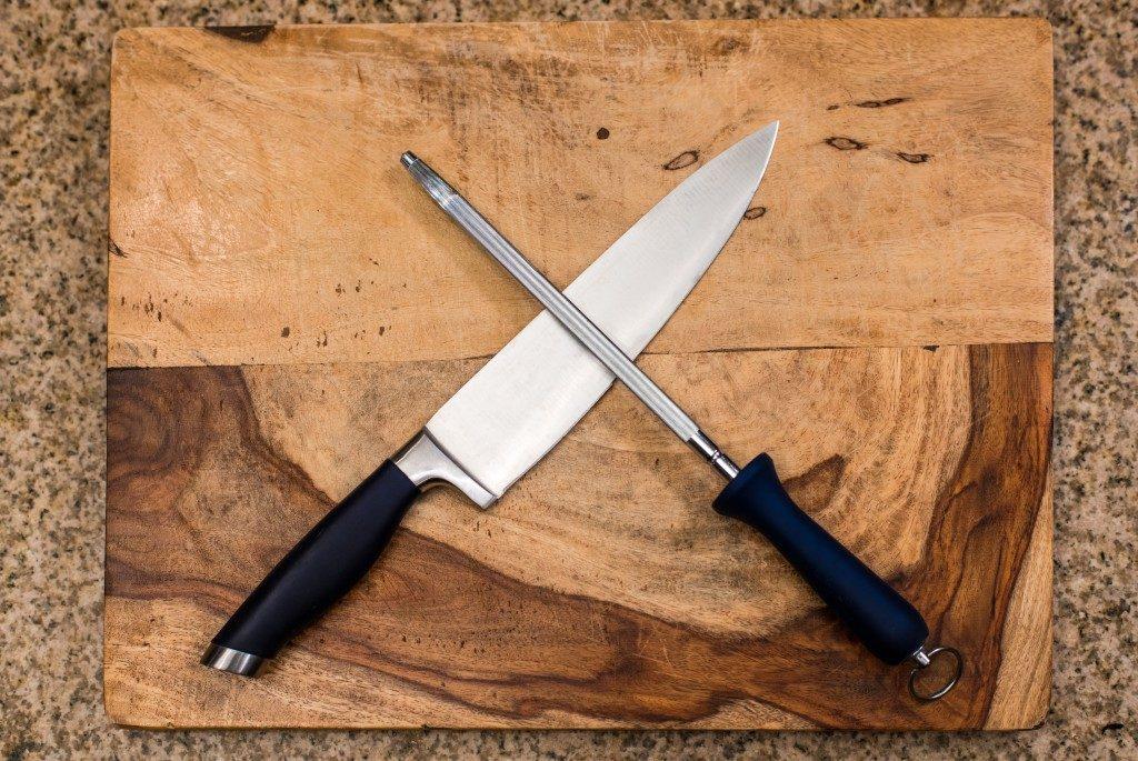 steel knife & sharpener