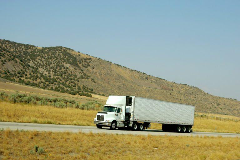 truck going up hill