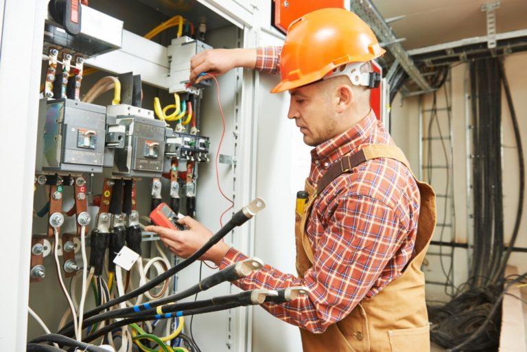 man doing an electrical work