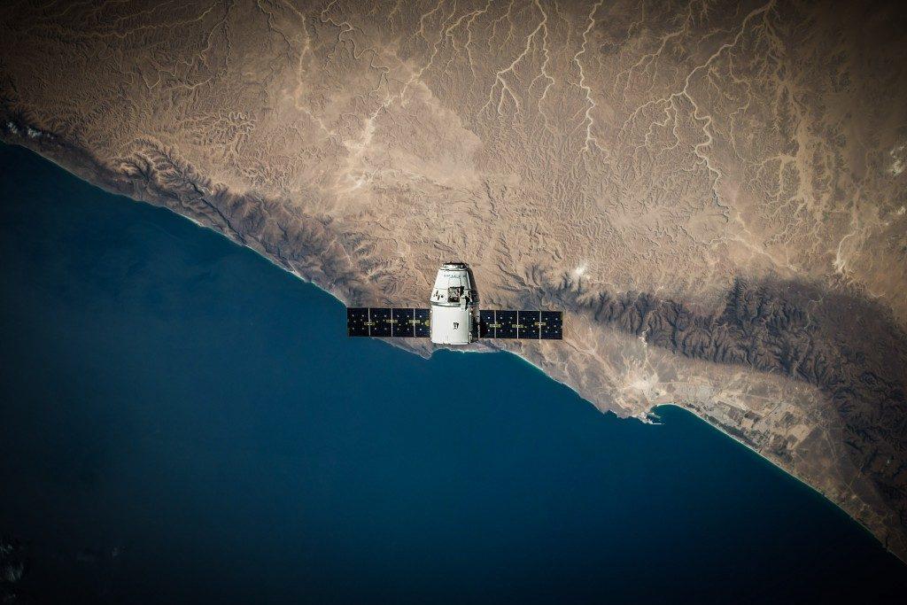 satellite over coast