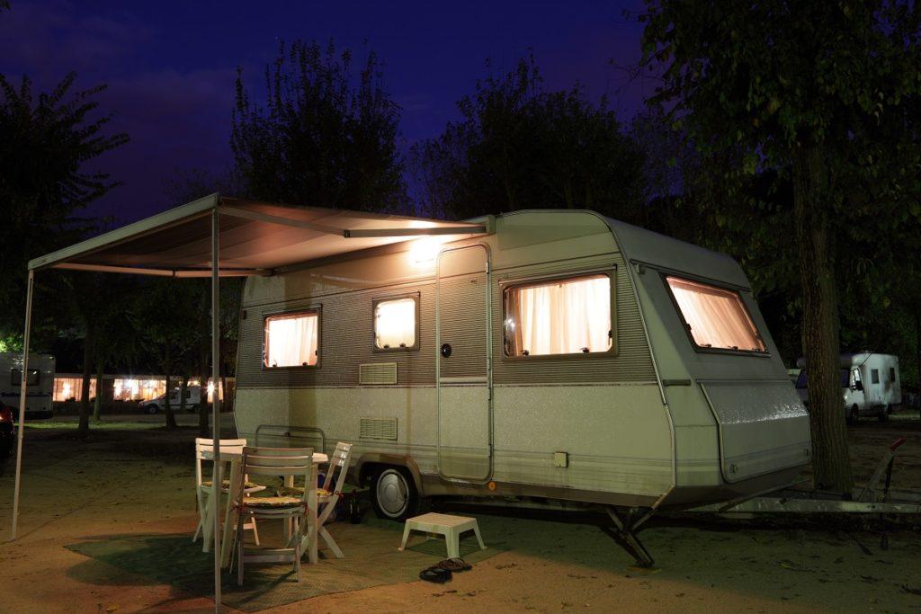 parked camper van