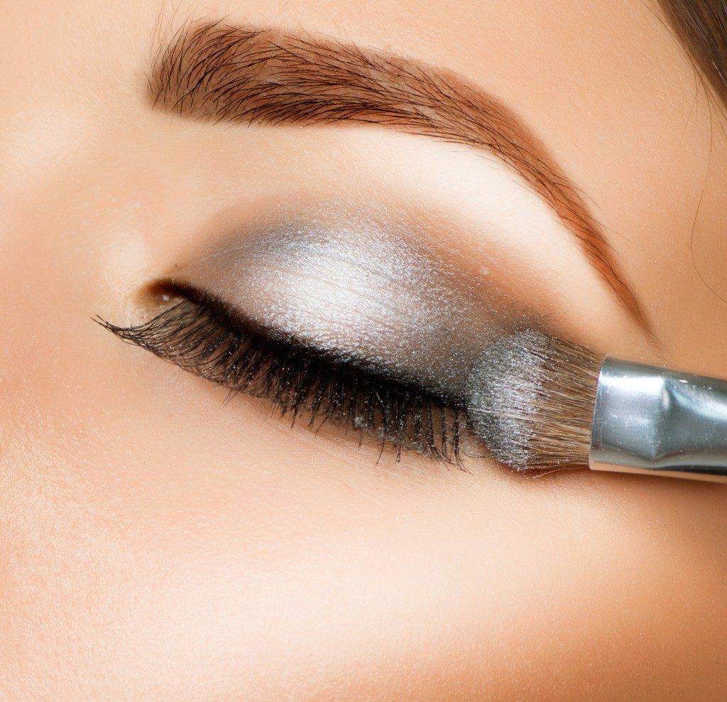 Makeup, eyeshadow and eyeshadow brush