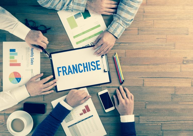 Business team concept of franchising a business