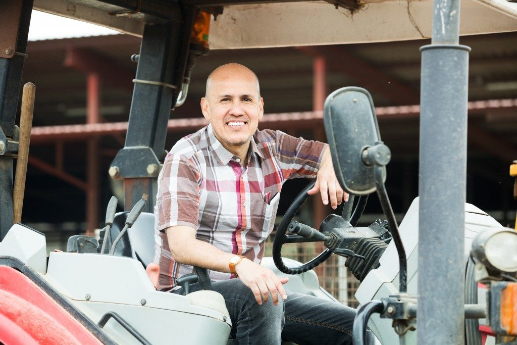 agricultural machinery in farm