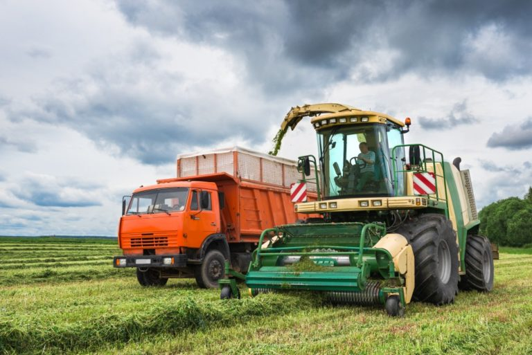 farming tractor and truck