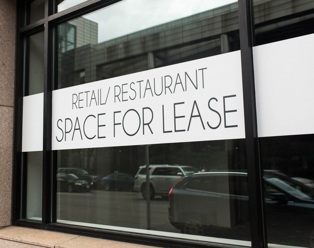 Real estate space for lease