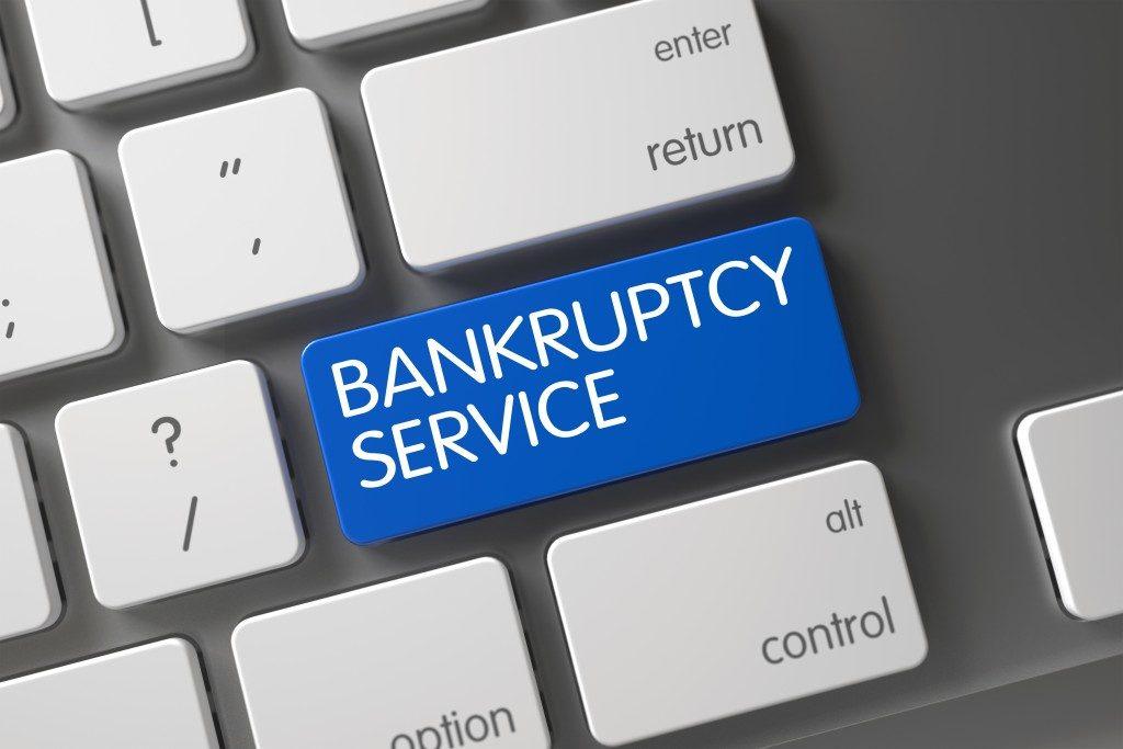 bankruptcy service keyboard tab