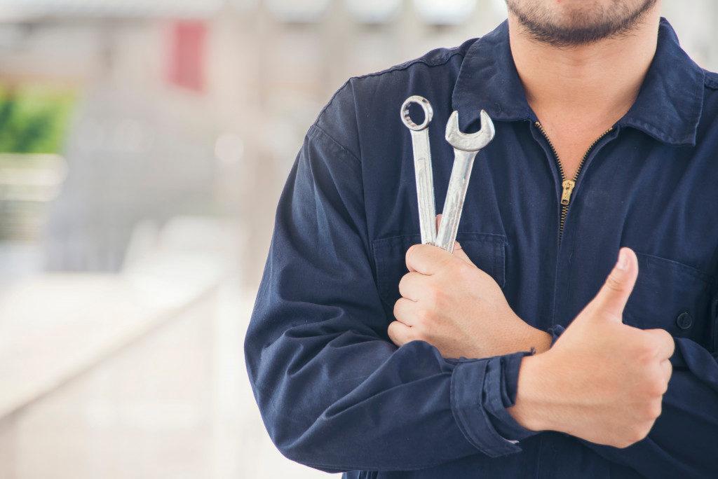 Auto Repairman with tools