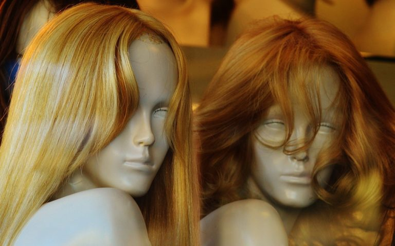 wigs on mannequinns