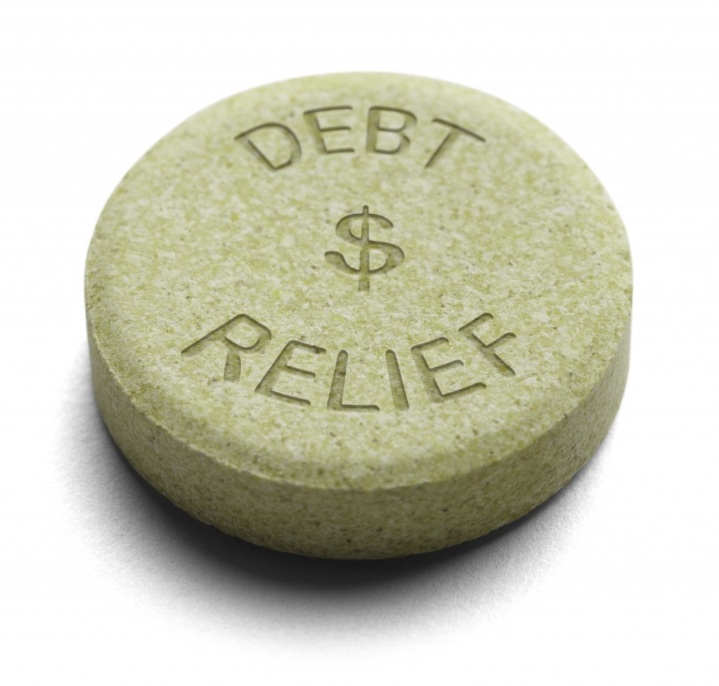 debt relief pill concept