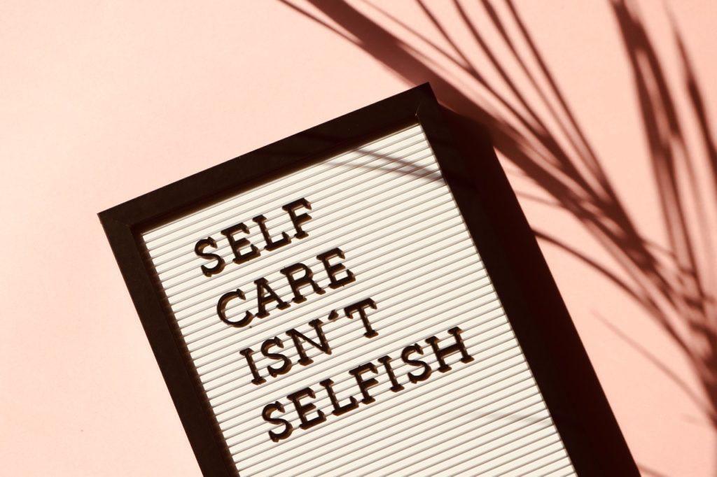 self care signage