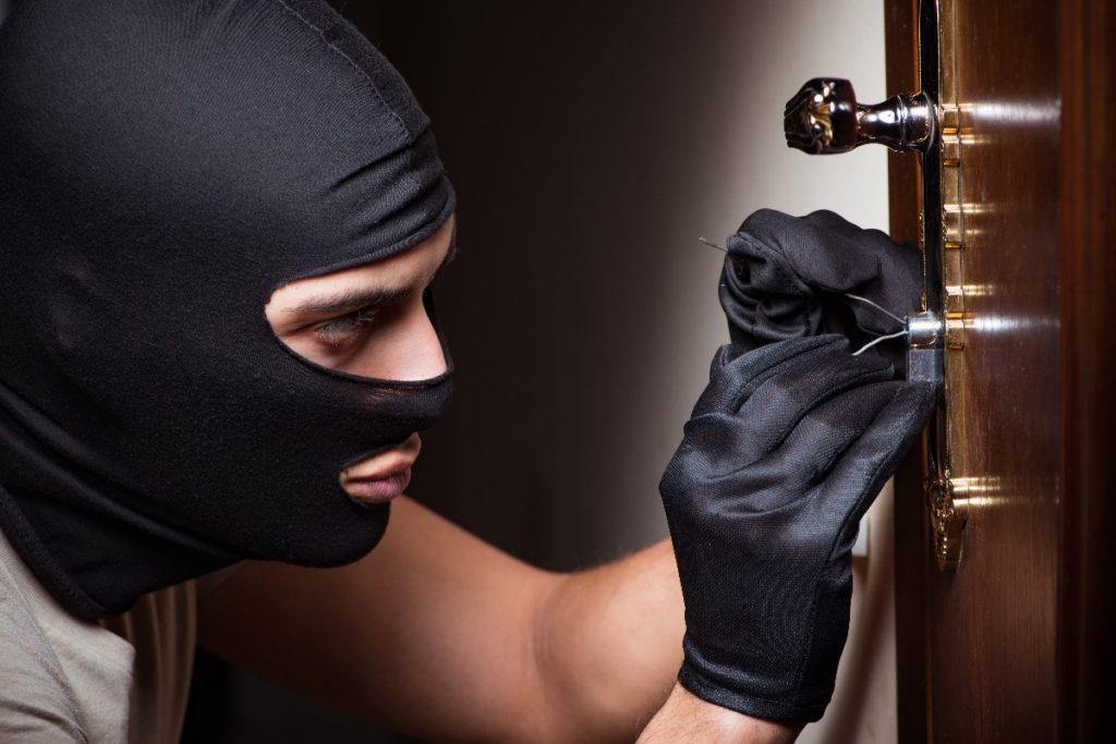 man picking a lock