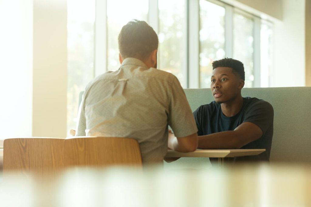 man seeking counselling