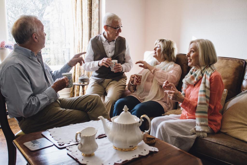 elders catching up