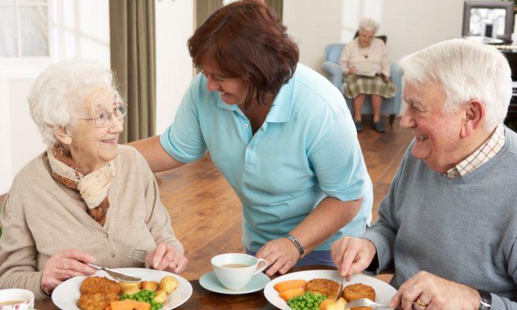 nursing home carer and seniors