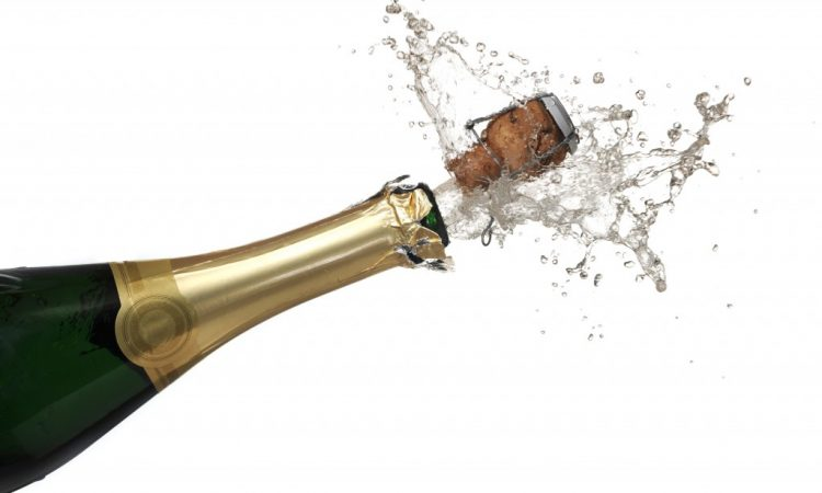 popped champagne