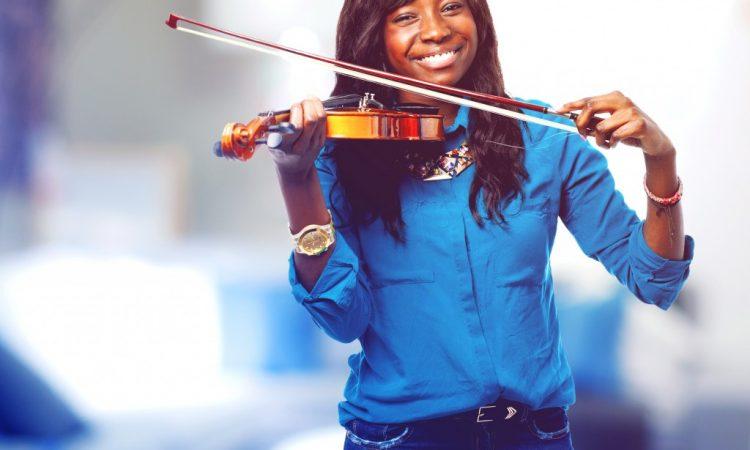 Female playing violin
