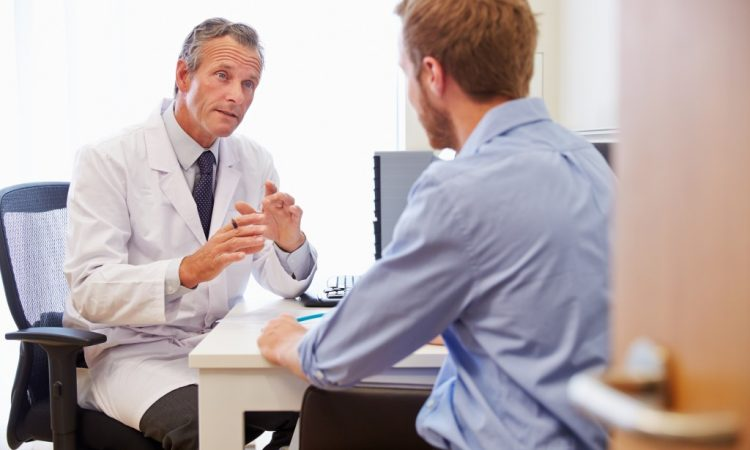 man consulting to a doctor