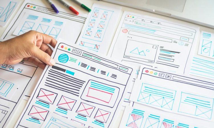 Website design in paper