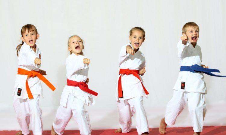 Kids doing Karate