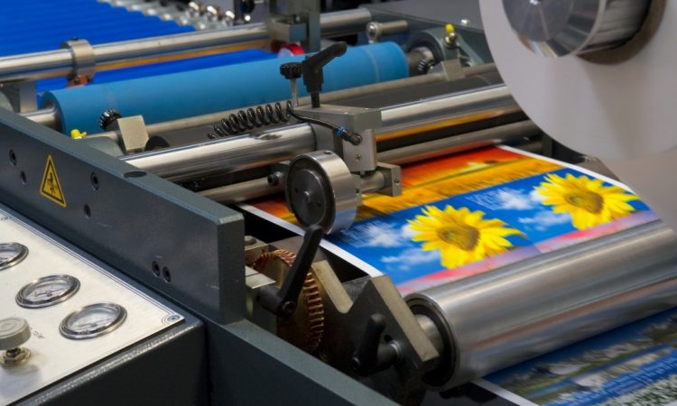 huge printing machine