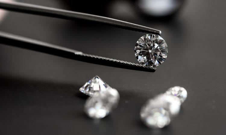 diamond on a dark table